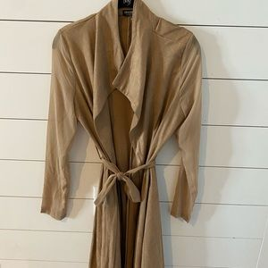 Fading nova faux suede trench